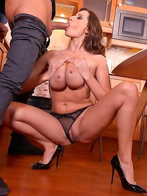 Busty Cups - Pussy Licking And A Titty Fuck For Breakfast